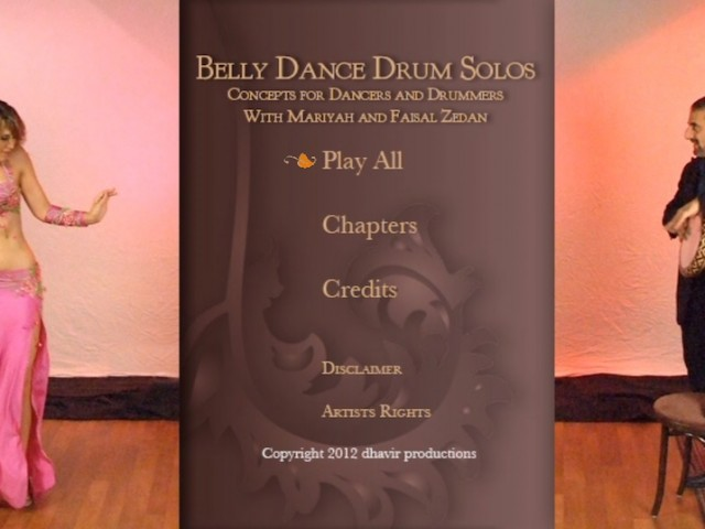 Drum DVD – Menu Design