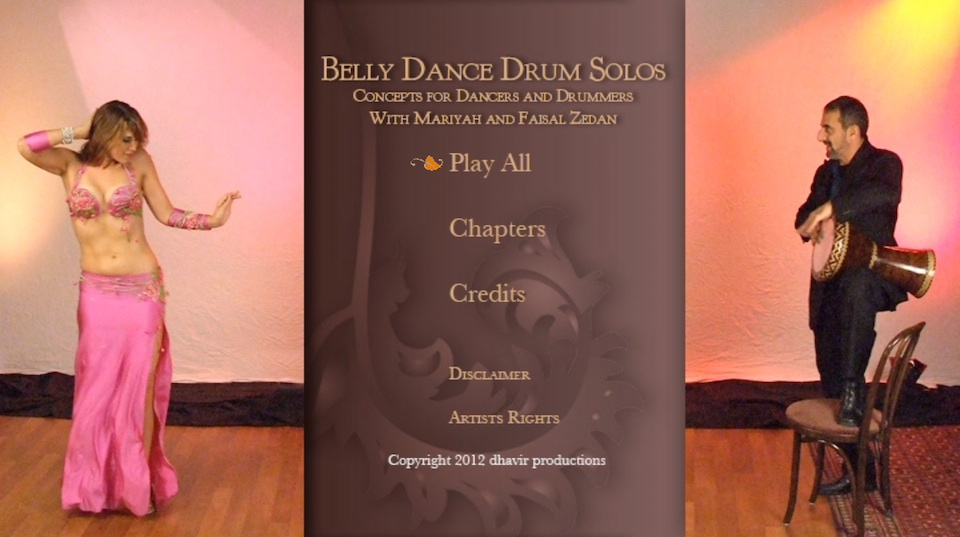 Drum DVD – Menu Design